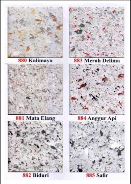 Katalog Kartu Warna Granite Flex 880